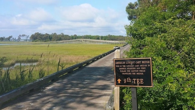 Longest Golf Cart Bridge at The Links at Lighthouse Sound